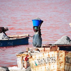 Traveling the Pink Lakes of Senegal