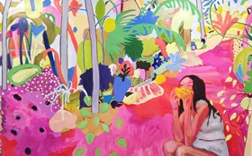 The Imagined Persian Gardens of Painter Kimia Ferdowsi Kline