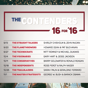Tune In to THE CONTENDERS - 16 FOR '16
