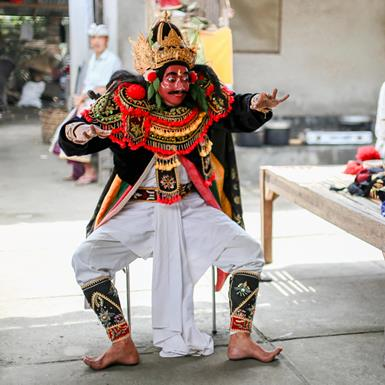 """The """"masked men"""" of Bali serve as a cultural bridge between the older and younger generations."""
