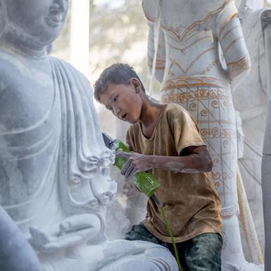 The Human Statues of Myanmar