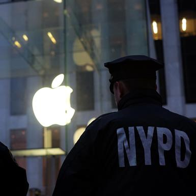 Police at apple