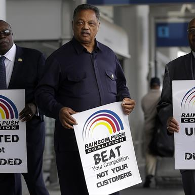 United protest