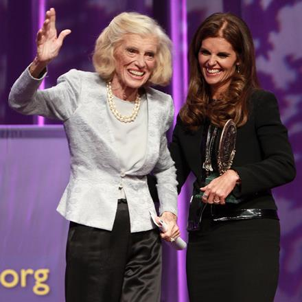 Eunice Kennedy Shriver and Maria Shriver