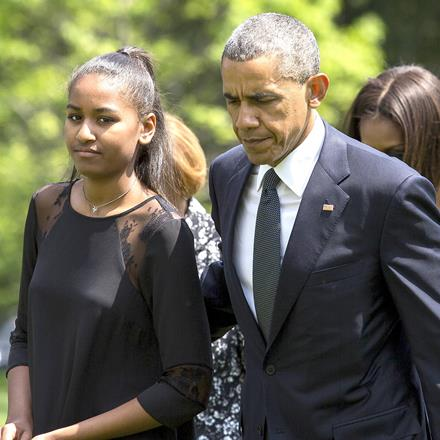 President Obama and his daughter Sasha.