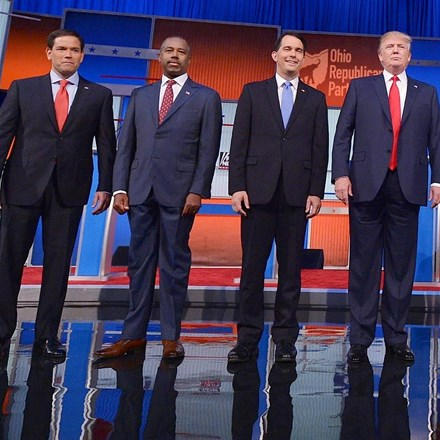 Republican candidates kick race for 2016 presidential nomination into high gear with first debate. Source: Getty